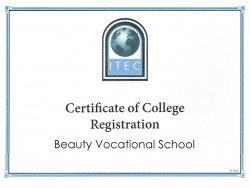 "ITEC Diploms ""Beauty Specialist 3 level"" Latvijā."